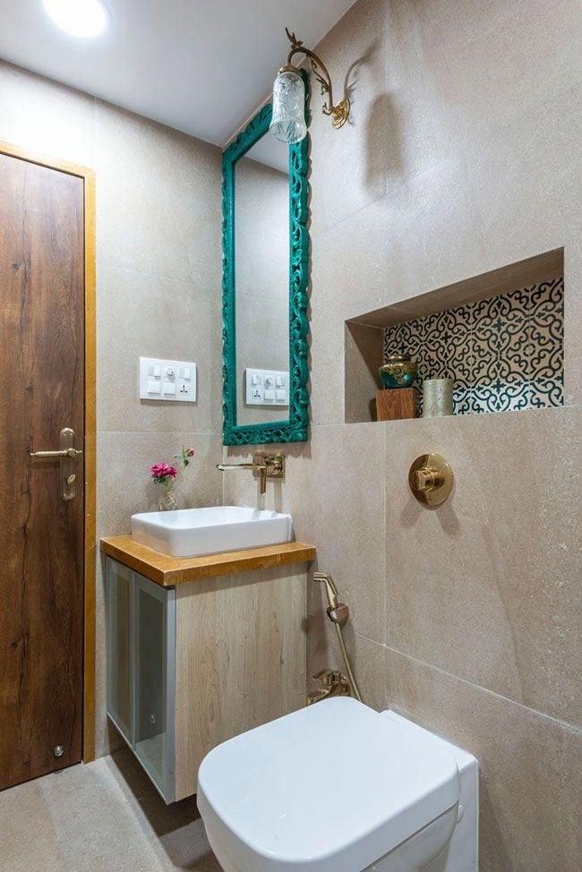 This Mumbai Apartment Is Indian In Spirit And Modern In Outlook Dress Your Home Best Interior De Top Bathroom Design Master Bathroom Design Indian Bathroom