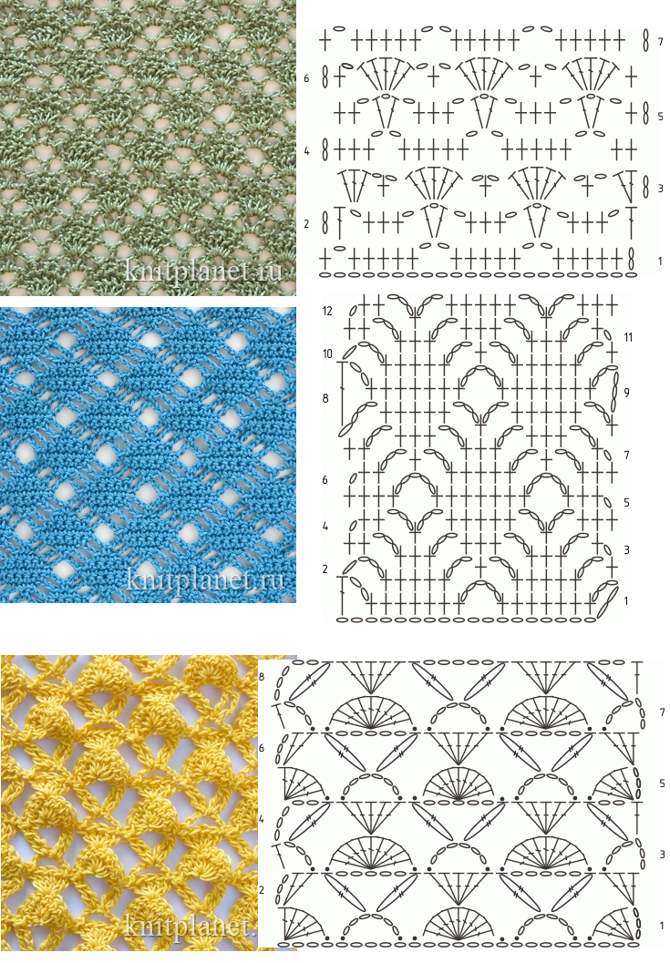 crochet stitches - the green one is quite yummy!! | Muestrario de ...