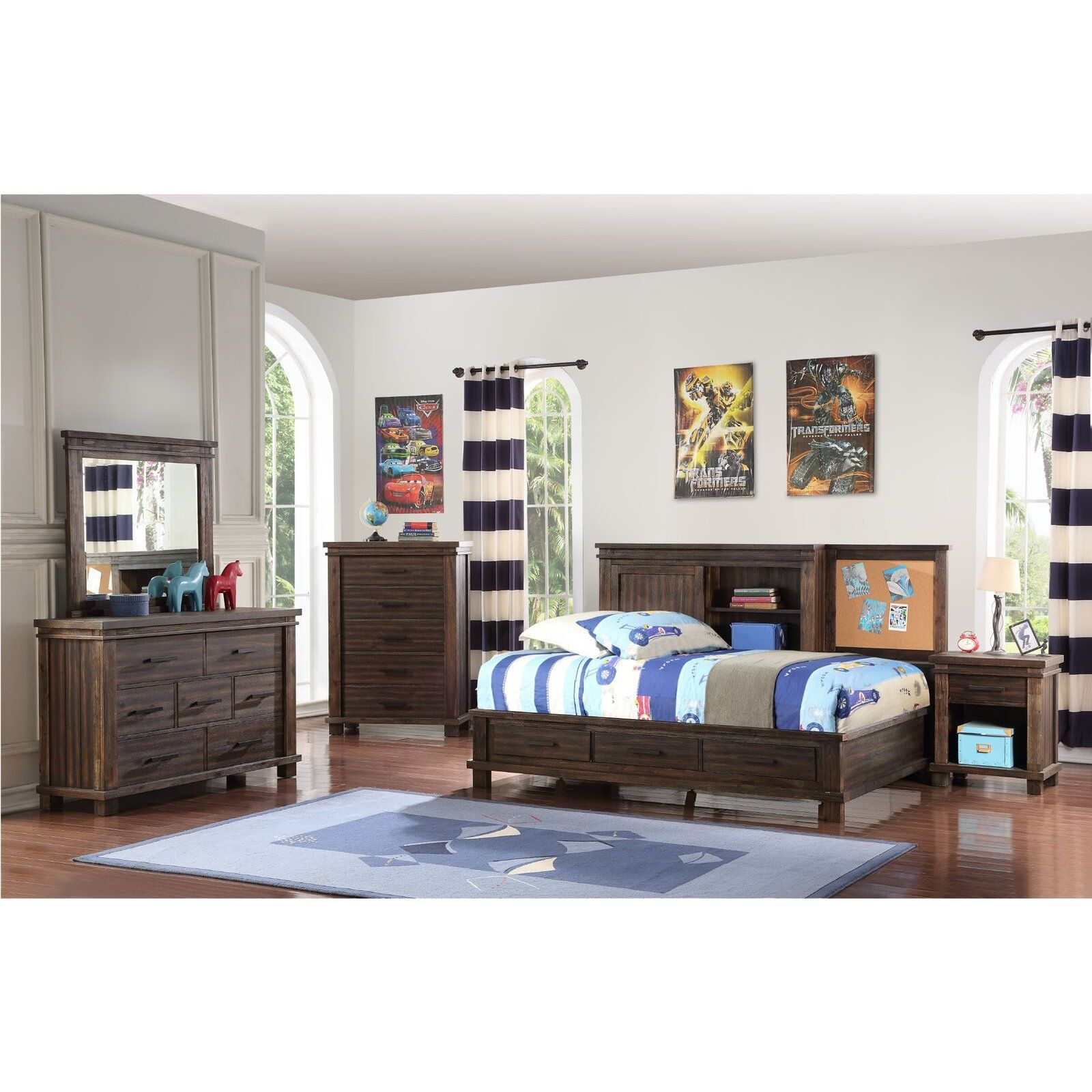 Classic Brown 4 Piece Full Bedroom Set Tribecca Rc Willey