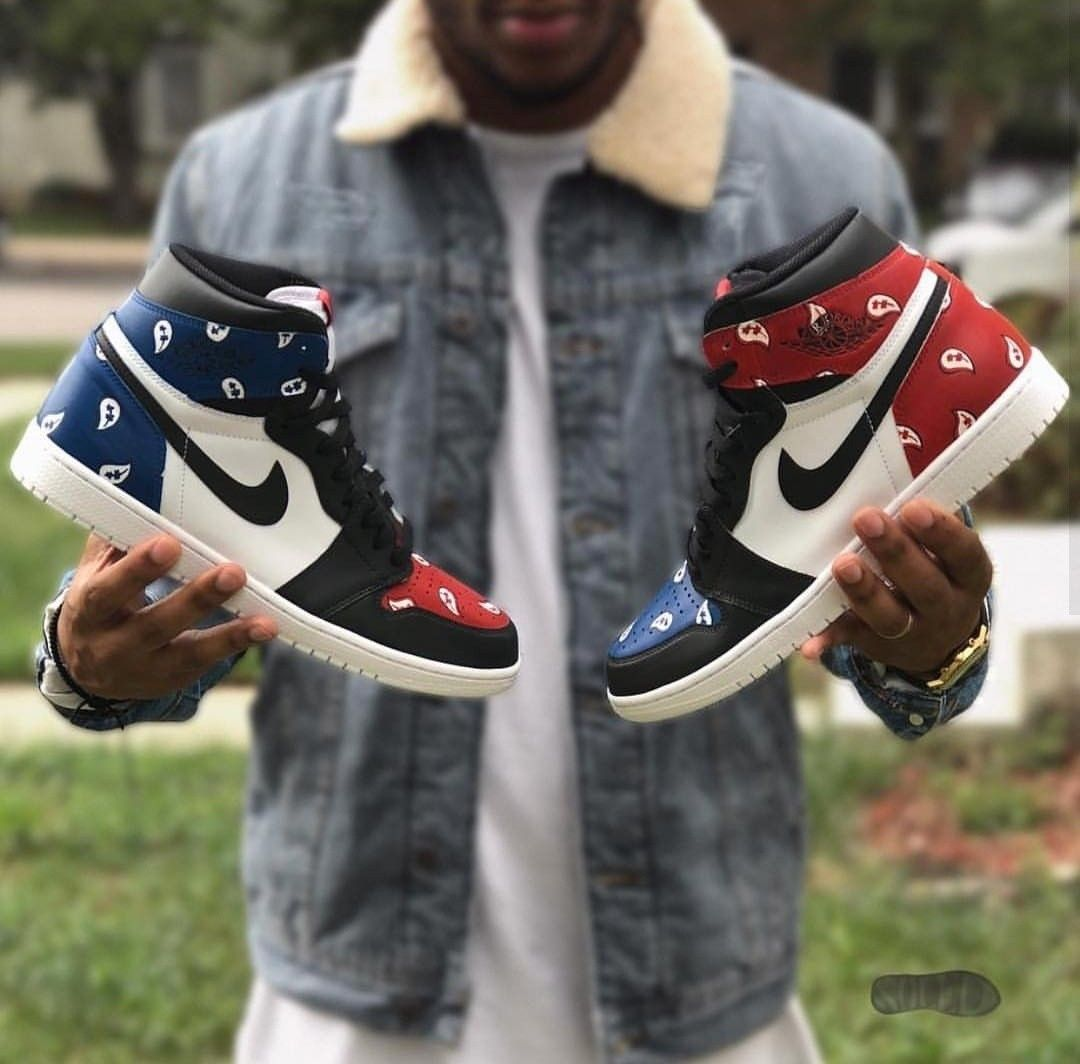 1fd9d4ded91da What would you call these custom painted bandana jordans done by   soledsneakers   jordans