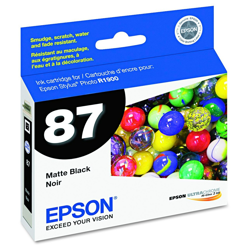 Epson UltraChrome Hi-Gloss 2 Pigment Ink Cartridge - Black (EPST087820), Matte Black