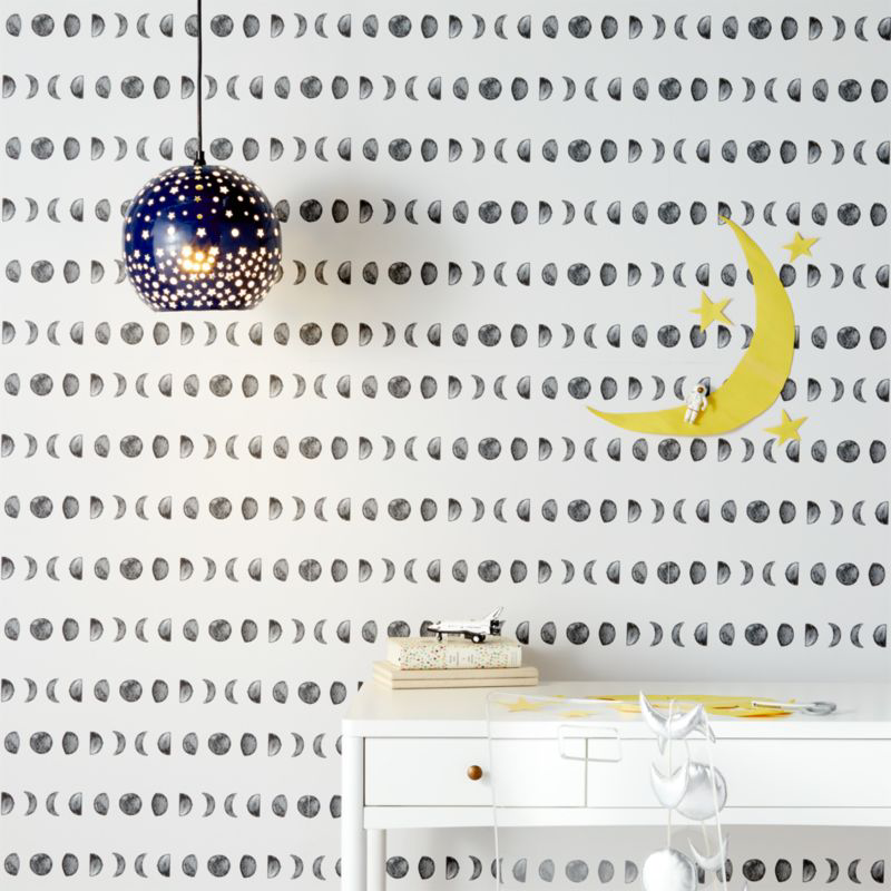 Chasing Paper Black And White New Moon Removable Wallpaper Reviews Crate And Barrel In 2021 Chasing Paper Removable Wallpaper Crate And Barrel