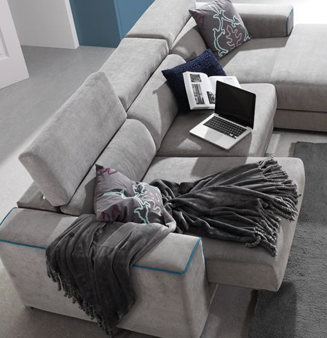 Sof makati de kibuc puedes personalizar el ribete con for Sofa 4 plazas asientos deslizantes