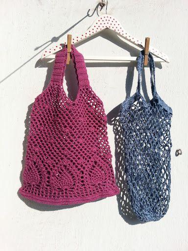 La ventana azul: 161.- Bolsa de piñas a crochet | ganchillo | Pinterest