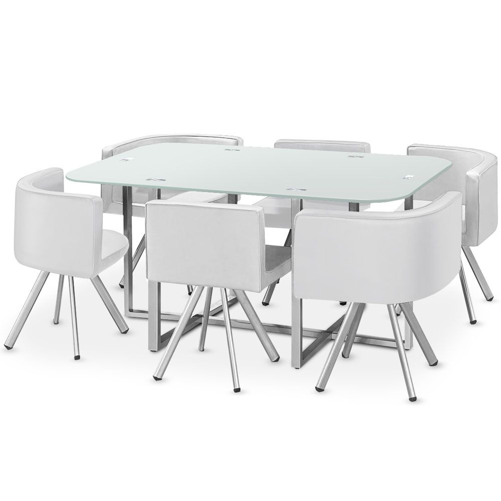 Table Mosaic Xl Blanc En 2020 Table Salle A Manger Table Design