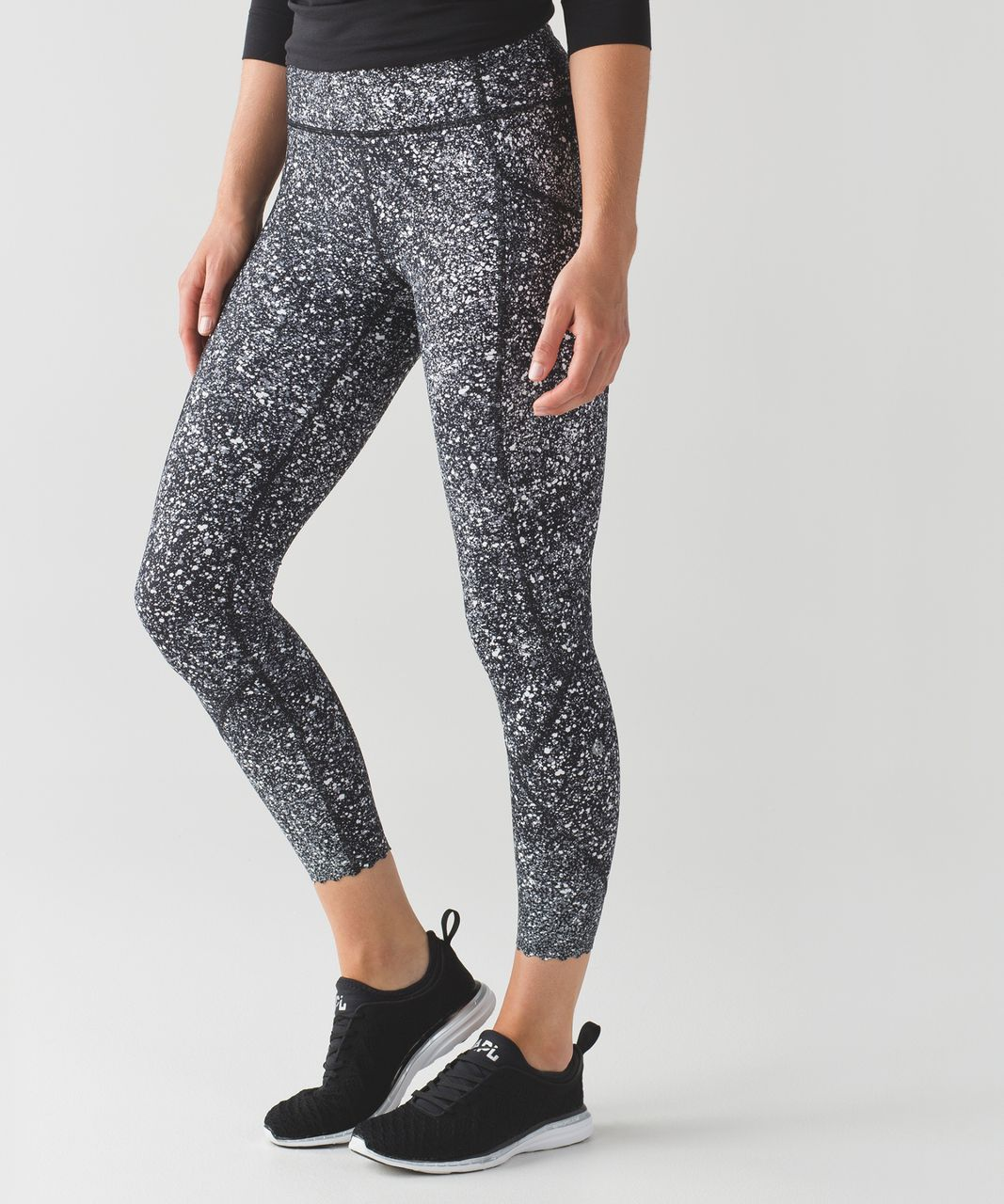 d98ab7ac18 Lululemon Tight Stuff Tight II - Splatter White Black / Black ...