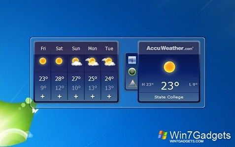 AccuWeather Forecast Win 7 Gadget | Gadgets | Desktop