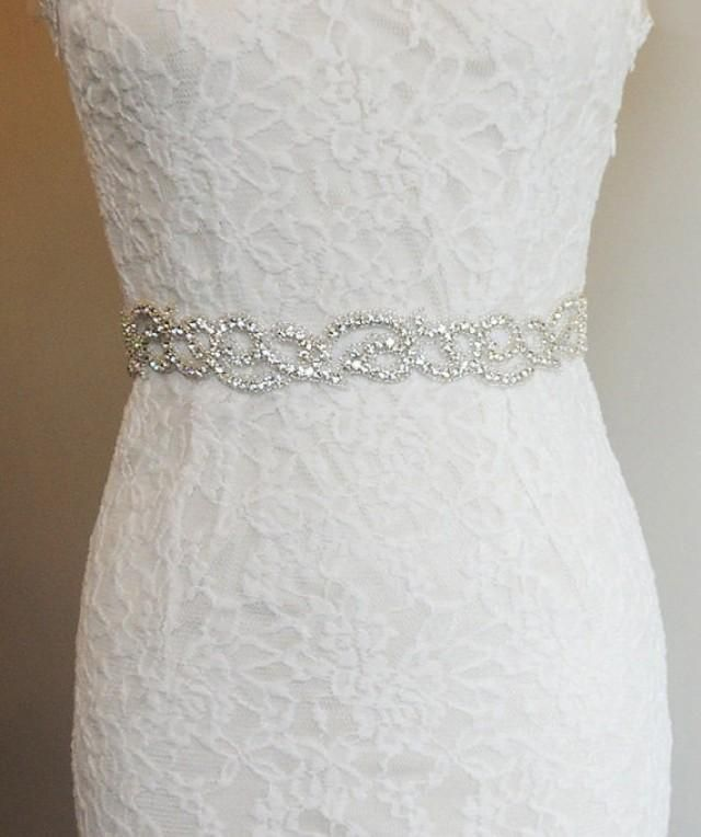 wedding belts for wedding dresses | Bridal Belt Sash - Rhinestone ...