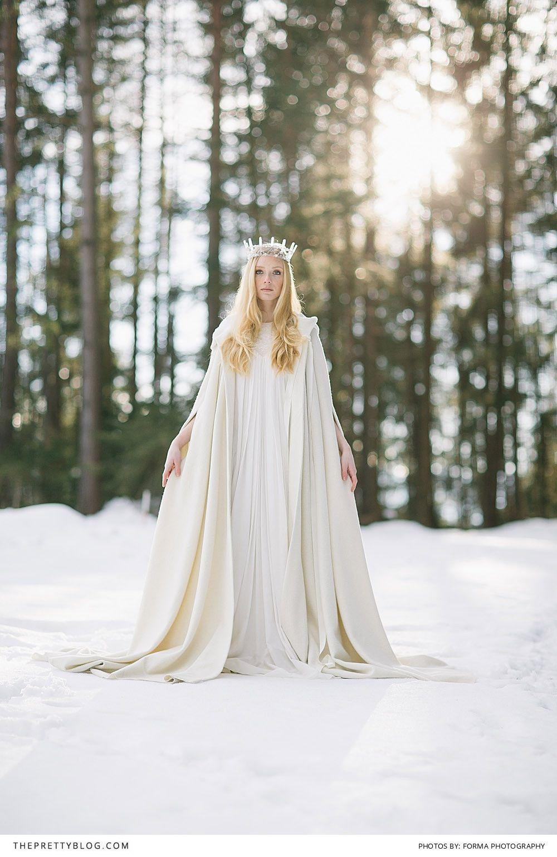 A White Wonderland Viking wedding, Gown pattern, Winter