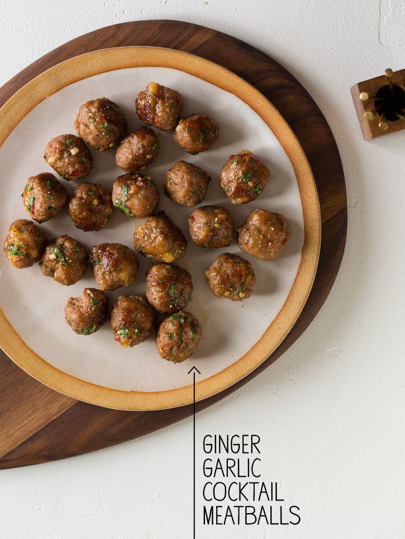 Ginger Garlic Cocktail Meatballs via http://cuisiner.avecnico.com