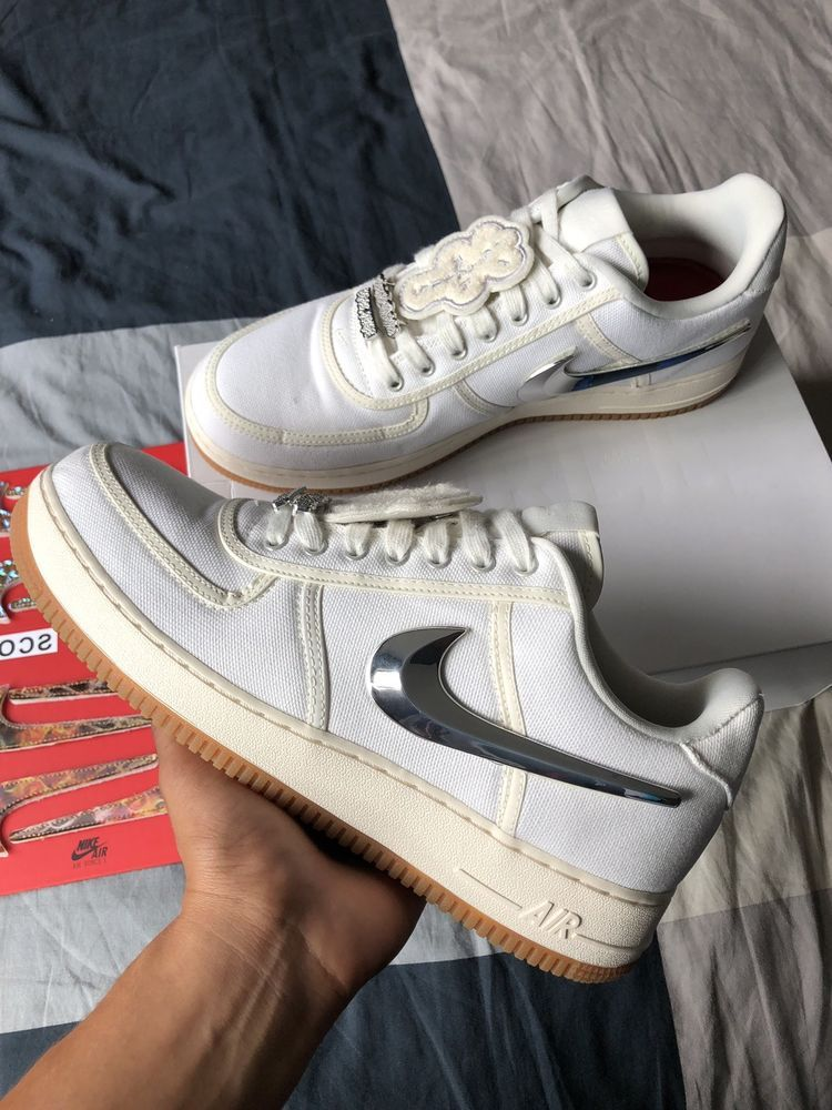 Travis Scott Air Force 1 Sail Fashion Clothing Shoes