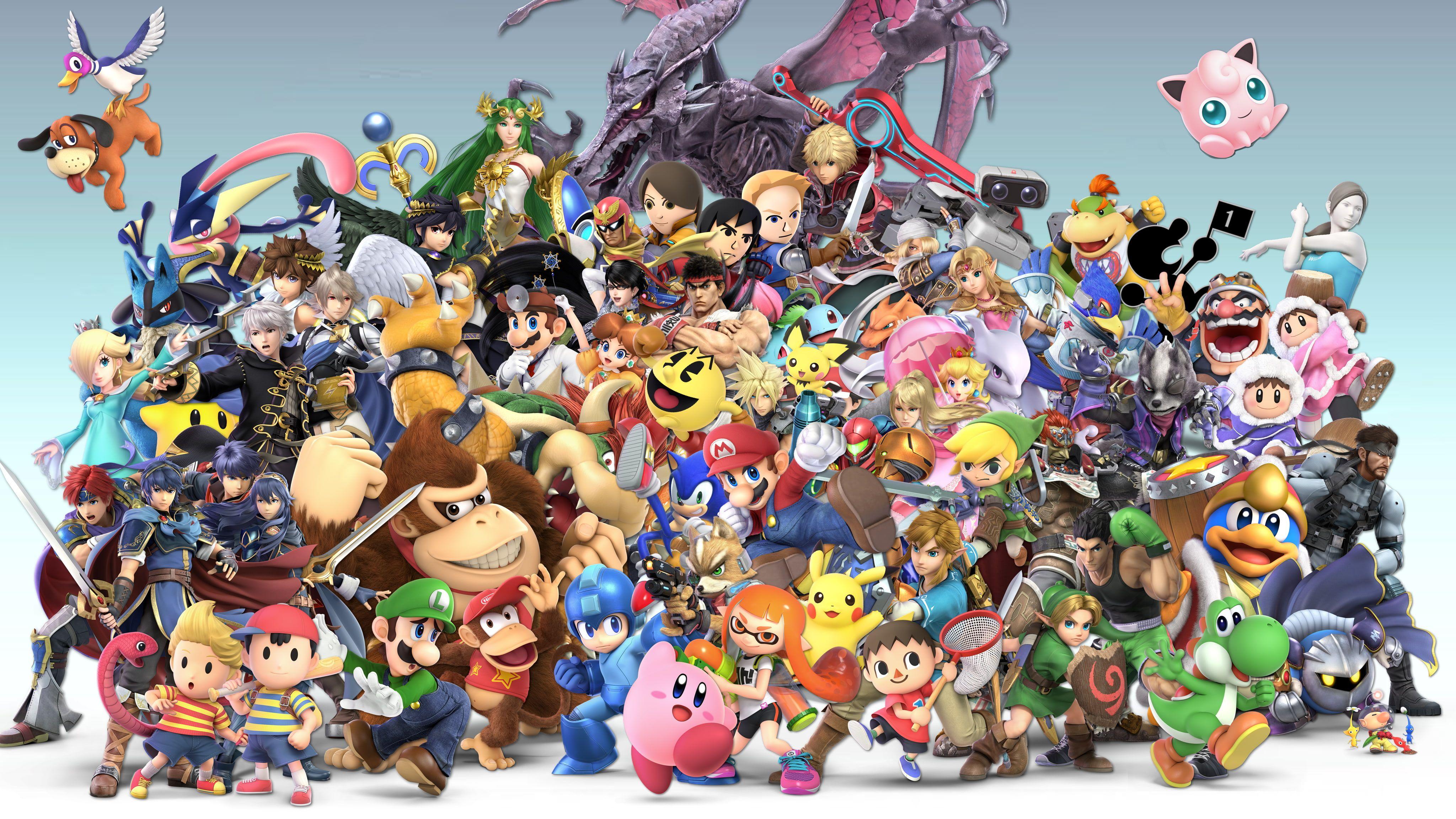 Video Game Super Smash Bros Ultimate Bowser Bowser Jr Captain Falcon Captain Olimar Charizard Pokemon Cl Dark Pit Kid Icarus Pokemon Jigglypuff Smash Bros