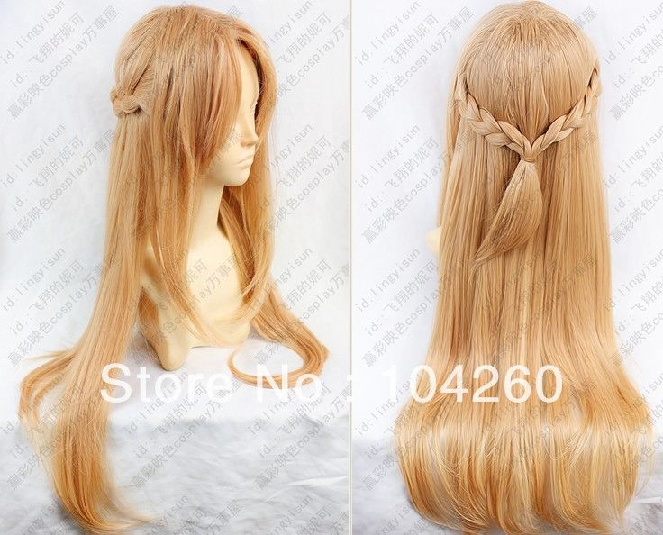 Aliexpress Com Buy Japan Anime 80cm Long Sword Art Online Asuna Yuuki Long Cosplay Wig Cap From Reliable Wi Cosplay Wigs Wig Hairstyles Hair Extensions Best
