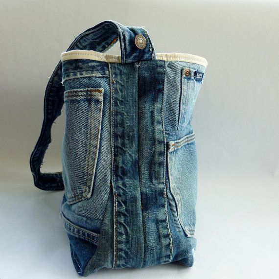 upcycled denim tote bag jeans tasche jeans und jeanstasche. Black Bedroom Furniture Sets. Home Design Ideas