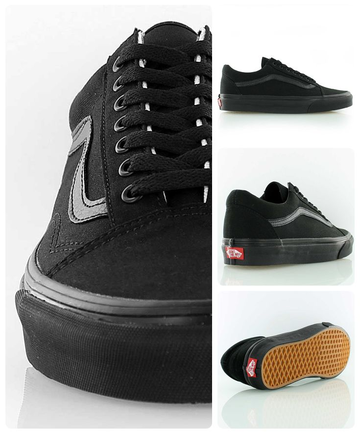 quality design c7de3 2055d Vans Old Skool all-black Zapatillas Vans Hombre, Zapatillas Skate, Zapatos  Vans,