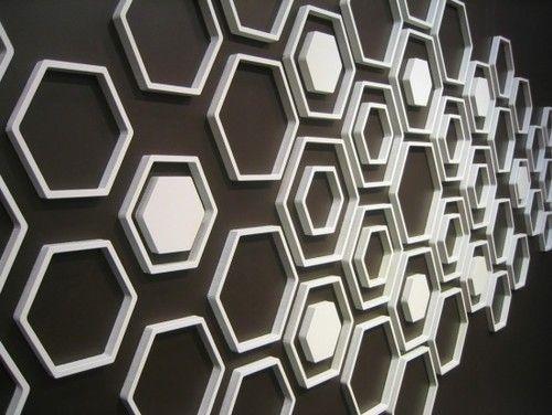 Wallter Hex Wall Applications Set Of 8 Modern Decals Hexagon