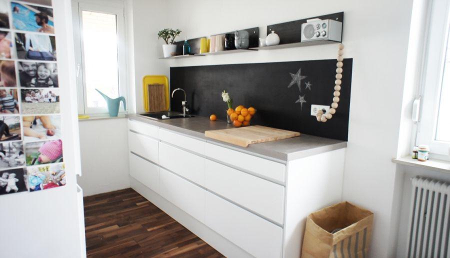Schwarz ist chic Tafelfarbe, Tags und Küche - wohnzimmer braun weis grun
