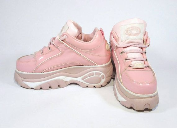 f38b20082567 RESERVED Words cannot begin to describe this unbelievable pair of pink  Buffalo platform sneakers. A staple of the 90s club scene