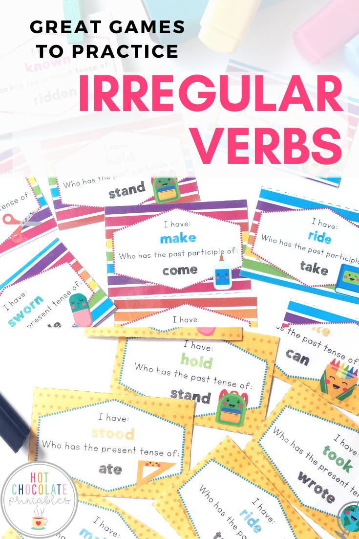 Irregular Verb Printable Card Games Irregular Verbs Verbs Activities English Language Learners Activities [ 1102 x 735 Pixel ]