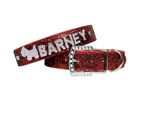 Leather Bling Personalized Dog Collars