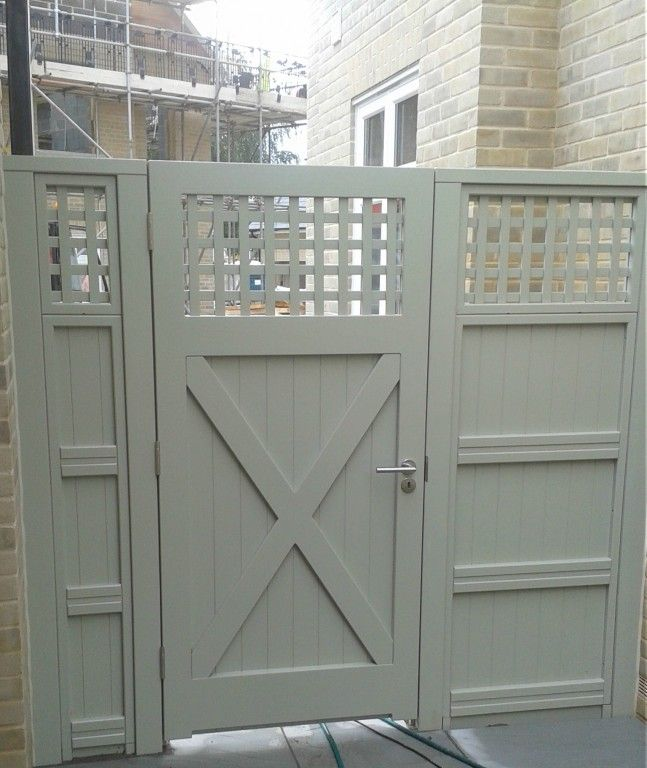 Solid painted gate rear | Projets à essayer | Pinterest | Gardens ...