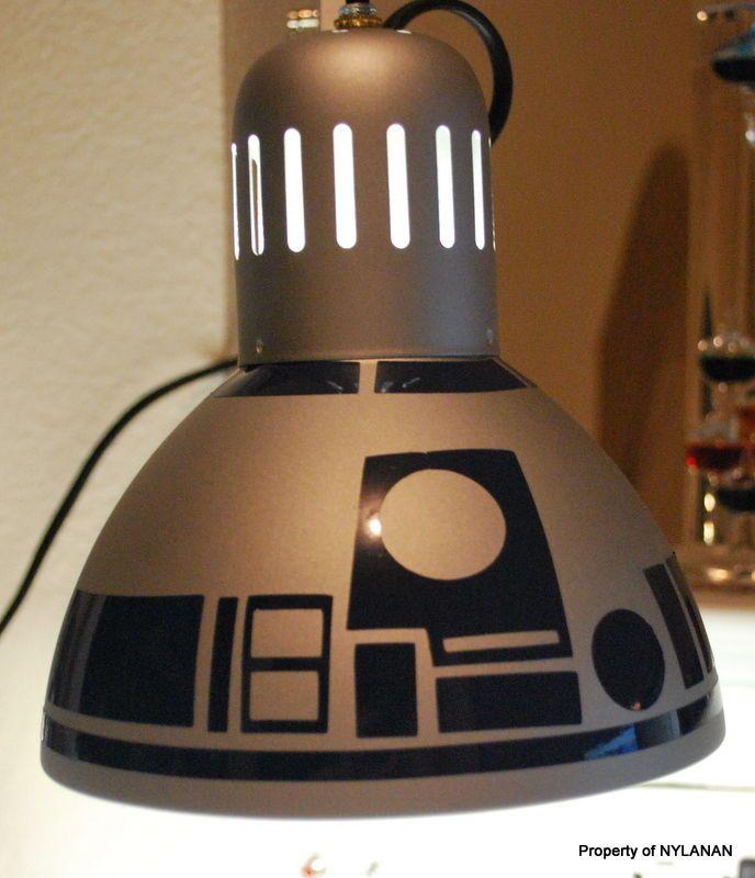 Diy R2d2 Lamp From 10 Ikea Lamp Star Wars Star Wars