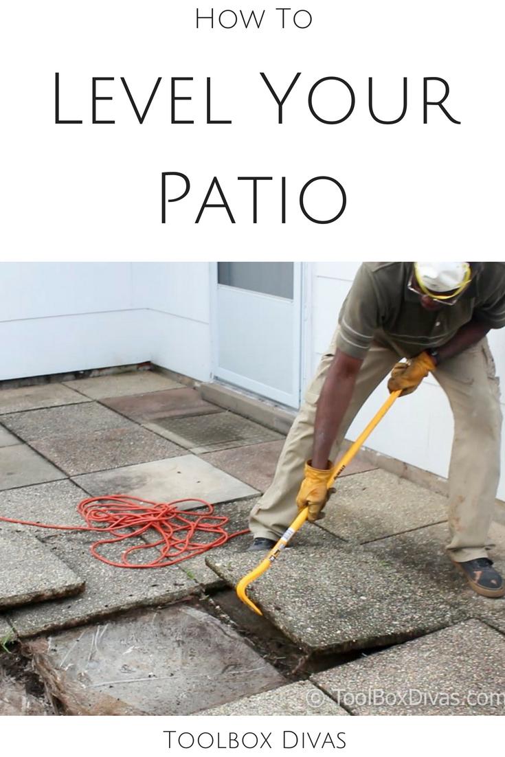 leveling sunken patio pavers