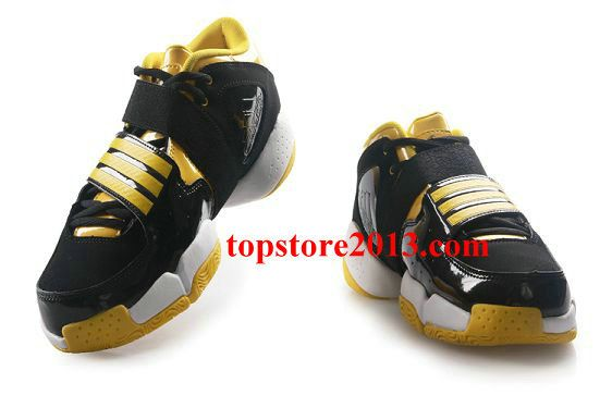 online store ea905 88ade Adidas Pilrahna 3.0 T-Mac Shoes Black-White-Yellow Hot Sale