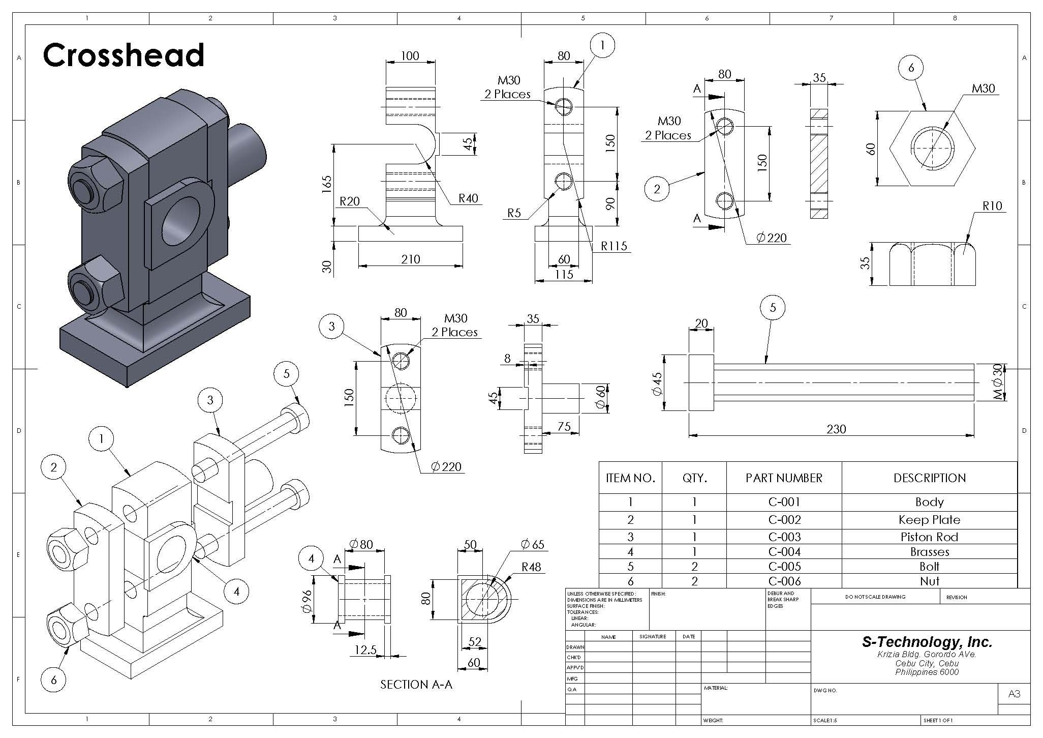 Detailed Assembly Drawing Buscar Con Google Mechanical Engineering Design Mechanics Drawing Sketches Mechanics Drawing