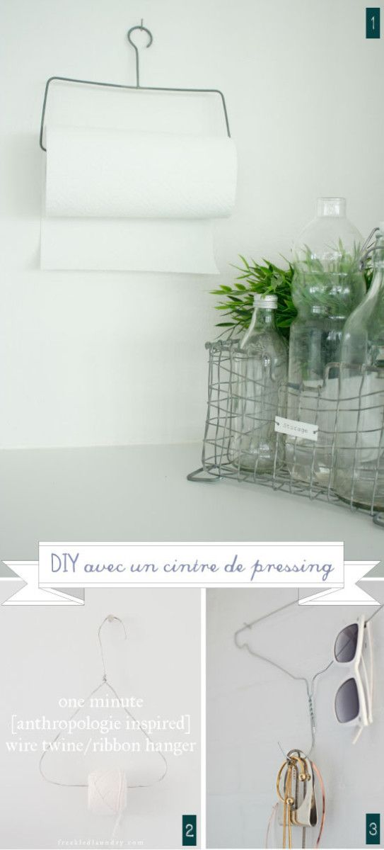 Wire Photo Hanger ways to reuse wire hangers - wire hanger bent to hold paper towels