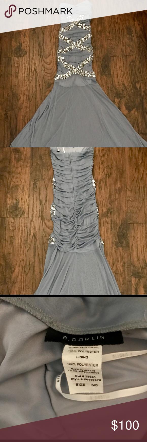 Silver long mermaid bottom formal dress my posh picks pinterest