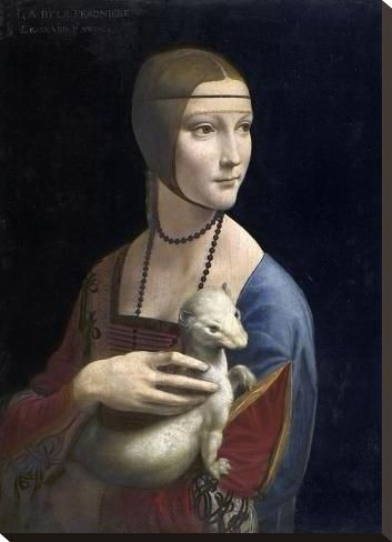 Stretched Canvas Print: The Lady with an Ermine, c