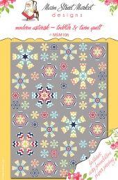 Modern Asterisk Toddler & Twin Quilt Pattern