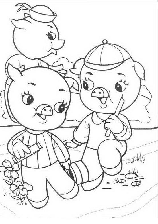 Die Drei Kleinen Schweinchen Ausmalbilder Malvorlagen Zeichnung Druckbare Nº 3 Fall Coloring Pages Free Coloring Pages Coloring Pages