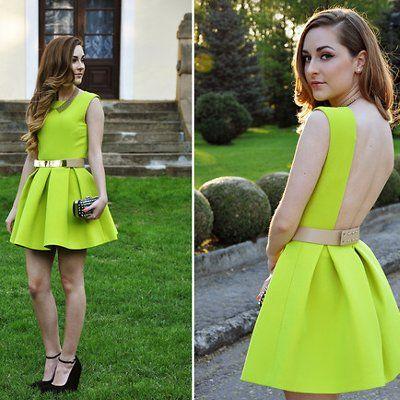 Zapatos amarillos neón Honda formales para mujer iNeNPpT0X