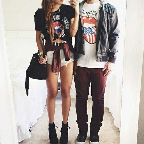 love swag couple girl fashion style hipster vintage indie black Teen boy -   19 girl style hipster