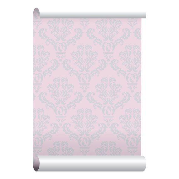 Self-adhesive Removable Wallpaper, Baroque Pink Wallpaper
