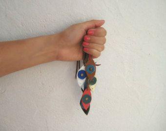 Fatima Bracelet - Evil Eye Bracelet - Leather Jewelry - Hamsa Bracelet