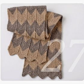Knit Kit Garn Und Wollreste Verwerten In Einem Chevron Schal