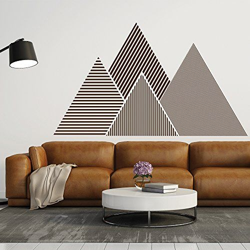 Geometric Mountain Wall Sticker Wall Decal For Living Room, Bedroom Home  Decor AFF LINK