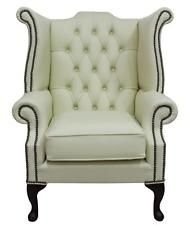 Chesterfield Armchair Queen Anne High Back Wing Chair Cottonseed