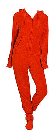... Adult Red Plush Hooded One Piece Footy. Big Feet PJs - Footy Pajamas  are the best a57ae61fe