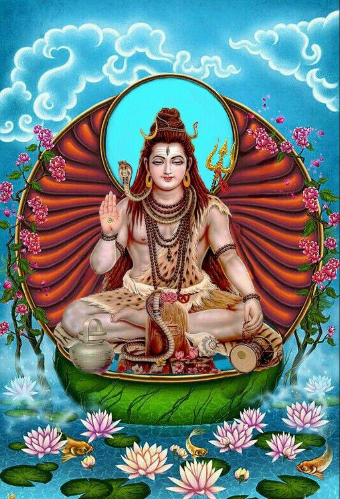 Lord Shiva As Adiyogi In Creative Art Painting พระศ วะ อ นเด ย