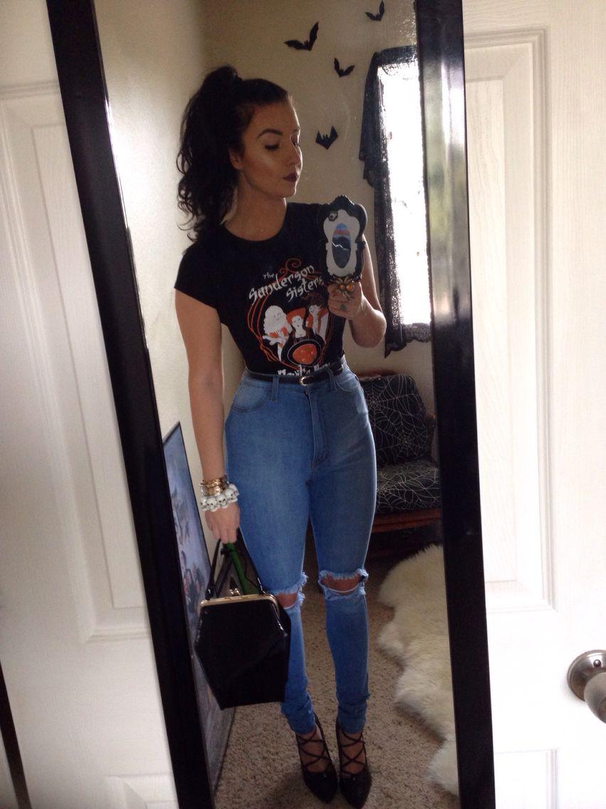 Hocus pocus outfit today! Fashion nova jeans Fashion