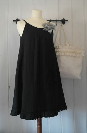 Pellavamekko MUSTA Cool Outfits db683a4816
