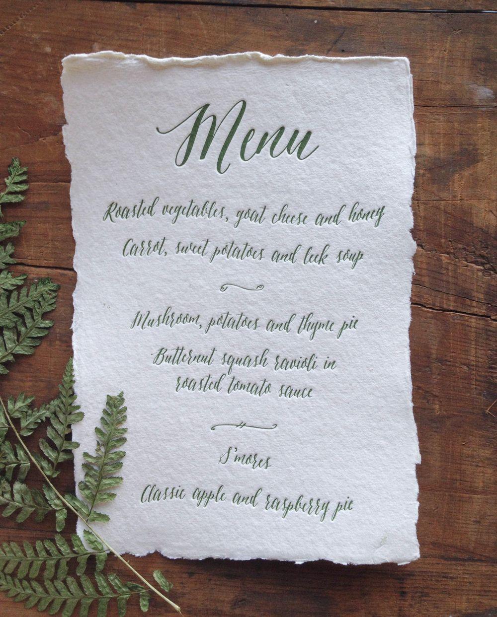 Botanical wedding menu wedding botanical pinterest