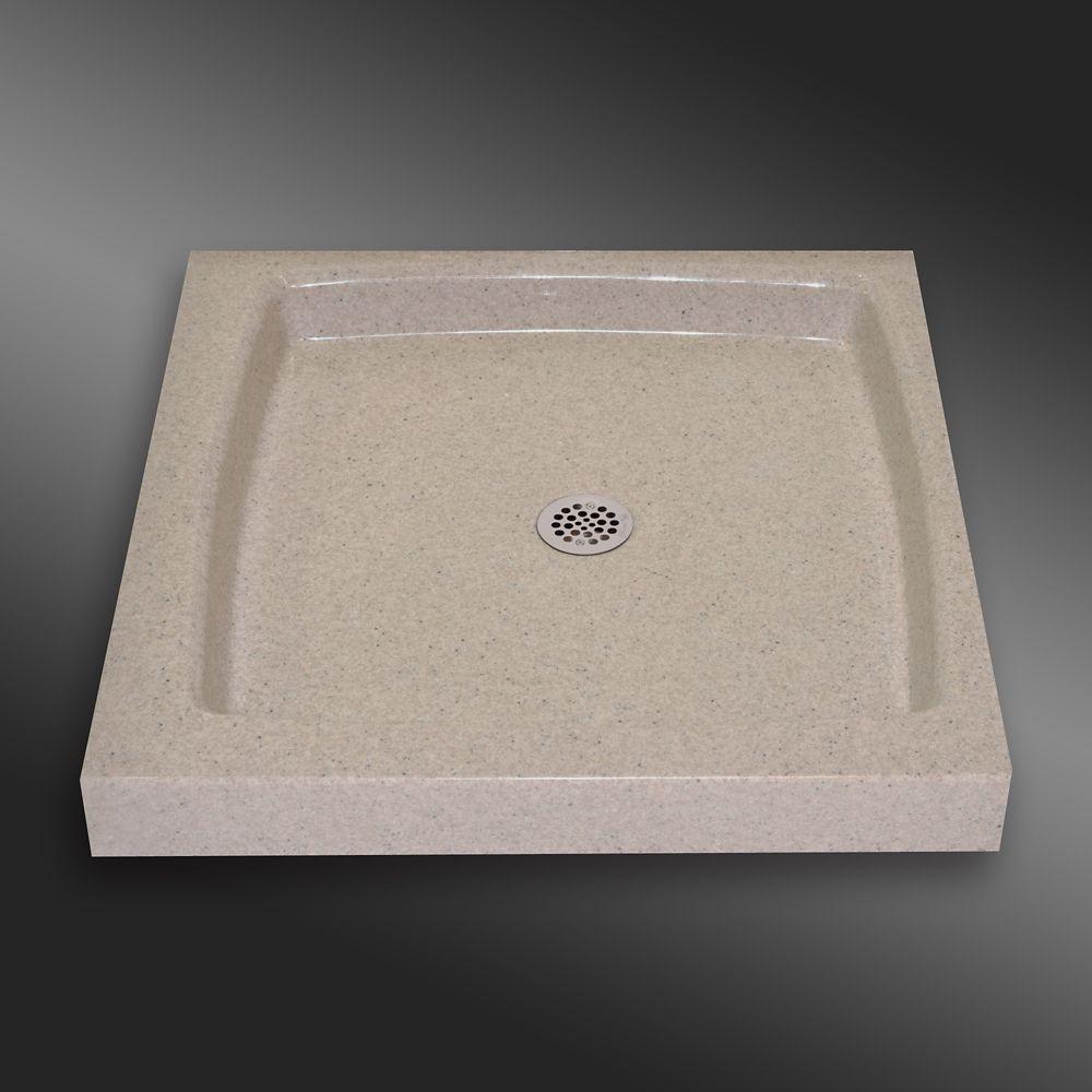 Single Threshold Shower Base Pg141 Irish Cream 32 X 32 Inches