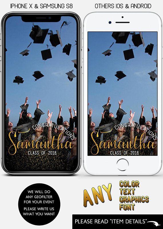 CUSTOM, Graduation Snapchat Graduation Party Class of 2018 - copy blueprint events snapchat