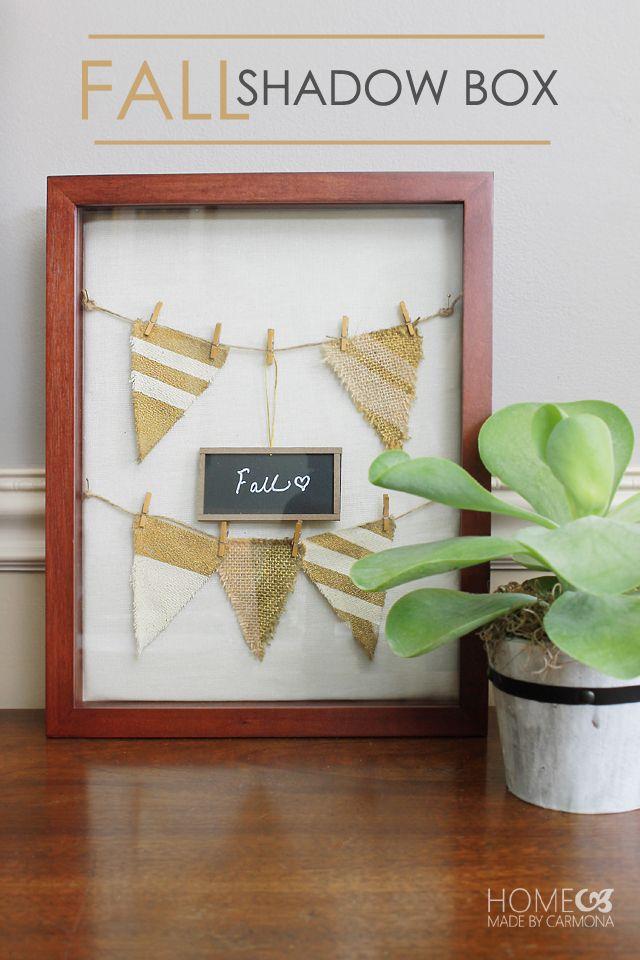Seasonal Fall Shadow Box | DIY Ideas | Pinterest | Shadow ...