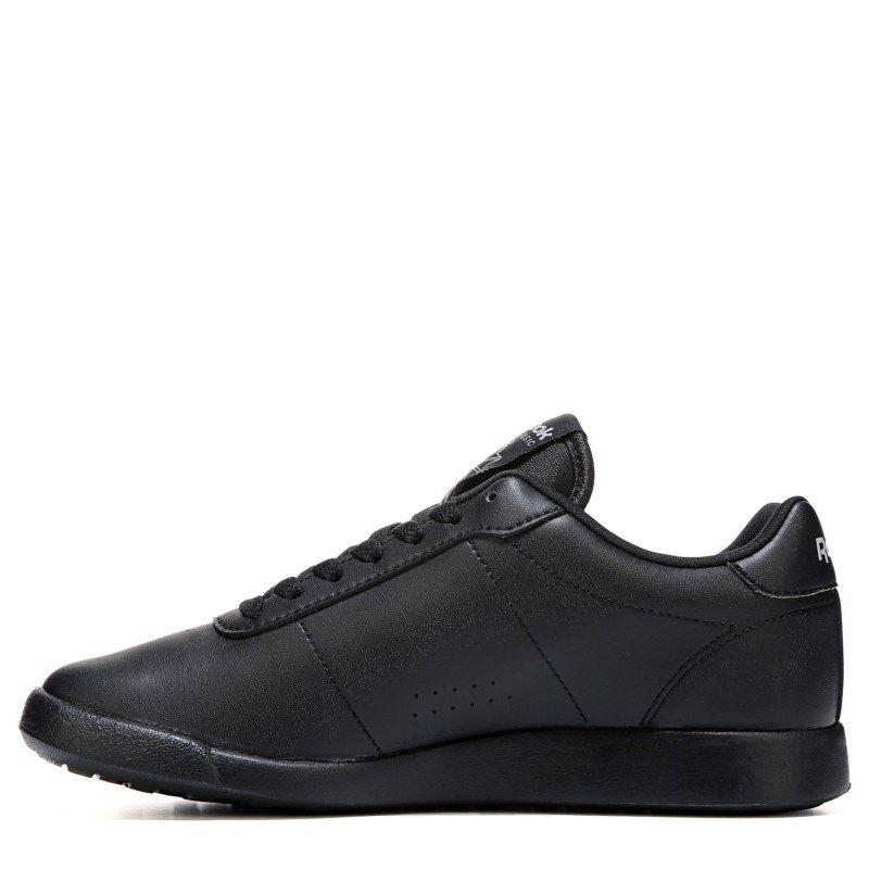 a84afff8c327c5 Reebok Women s Princess Lite Memory Foam Wide Sneakers (Black) - 10.0 D